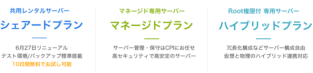 CPIレンタルサーバープラン
